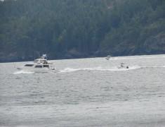Boating on Halfmoon Bay